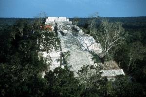 Pyramide in Calakmul