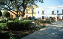 Plaza in Campeche, Mexiko