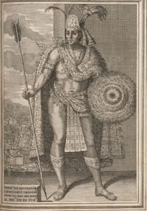 Moctezuma-II, von Antonio de Solís (author), artist unidentified [gemeinfrei], Quelle: Typ 625.99.800, Houghton Library, Harvard Universityvia Wikimedia Commons