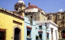 Straße in Oaxaca, Mexico