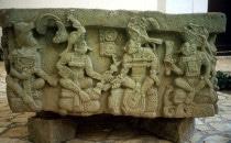 Altar Q - Museum von Copán, Honduras