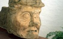 Alter Maya Mann oder Pauahtun - Museum von Copán, Honduras