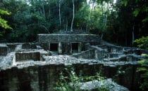 Wohnkomplex in Calakmul, Mexiko