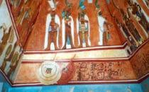 Fresco im Maya Museum von Chetumal, Mexiko