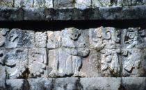 Tempel des Jaguar Detail, Chichén Itzá, Mexiko