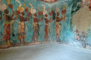 Bonampak, Wandmalerei im Innern
