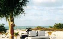 Hauptverkehrsmittel auf der Isla Holbox, Yucatán, Mexiko