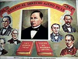 """""""El respeto al derecho ajeno es la paz."""" (Die Achtung der Rechte anderer ist Frieden.)"""