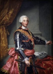 "Karl III, Anton Raphael Mengs [Public domain], <a href=""https://commons.wikimedia.org/wiki/File%3ACharles_III_of_Spain.jpg"">via Wikimedia Commons</a>"