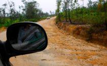 Straße nach Caracol
