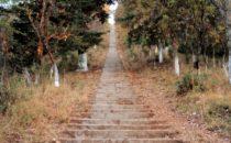 Treppe zum Mirador El Estribo, Pátzcuaro, Mexiko