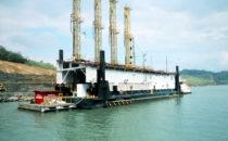 Arbeiten an der Fahrrinne, Panamakanal
