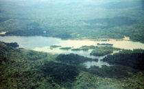 Panamakanal und Gatúnsee von oben