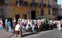 Kundgebung, Guanajuato, Mexiko