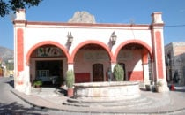 Square in the centre of Bernal, Mexico