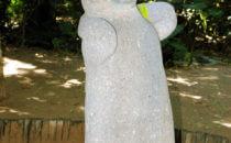 Affe, der zum Himmel blickt - Parque Museo La Venta