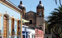Blick auf Santo Domingo, Oaxaca, Mexiko