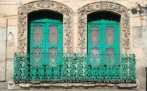 zwei Fenster in Oaxaca, Mexiko