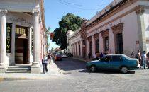 Straßenecke in Oaxaca, Mexiko