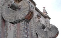 Santa Rosa de Viterbo Fassade, Querétaro, Mexiko
