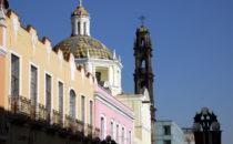 Kuppel von San Cristóbal, Puebla, Mexiko