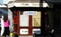 alter Kiosk, Puebla, Mexiko