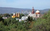 Blick auf Cadereyta de Montes, Sierra Gorda, Mexiko