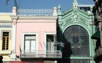 Fassaden, Puebla, Mexiko