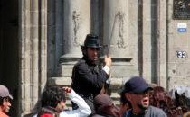 Statist bei Filmaufnahmen, Mexico City