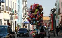 Straßenszene, Puebla, Mexiko