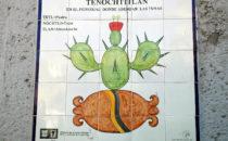 Wandkachel mit Glyphe für Tenochtitlán, Mexico City
