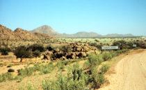 Khorixas in der Region Kunene, Namibia
