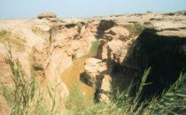 einer der Hauptarme des Uniab Deltas