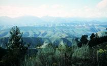 Blick über die Berge in die Karoo, Südafrika