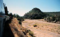 Blick aus dem Zug, Chepe, Kupfercanyon, Mexiko