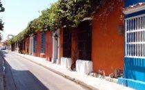 Cartagena - Straßenzug, Kolumbien