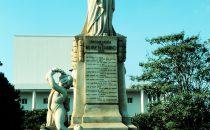 Rubén Darío Denkmal in Managua