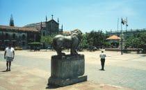 Die Plaza von León, Nicaragua