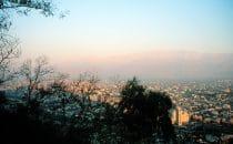 Blick vom Cerro San Cristóbal auf Santiago, Santiago de Chile, Chile