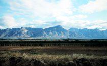 Blick auf die Drakensberge vom Lowveld, Südafrika