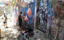 Sprayer bei der Arbeit, © Bertram Roth
