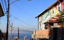 Blick auf die Bucht von Valparaíso, Chile