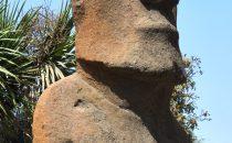 Moai vor dem Museum Fonck in Viña del Mar, Chile