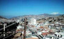 Blick über La Paz, Bolivien