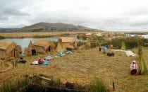 Inseln der Uros, Titicacasee, Peru