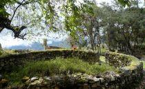 Kuélap - Reste eines runden Gebäudes, Peru
