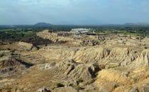 Túcume, Blick über Stadtanlage in Richtung Norden, Peru