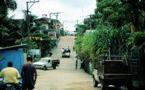Hauptstraße von Livingston, Guatemala