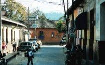 Cobán Seitenstraße, Alta Verapaz, Guatemala