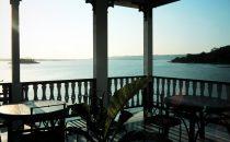 Blick von Hotelterrasse nach Westen, Flores, Guatemala